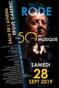 Affiche du fest-noz des 50 ans de musique de Pascal Rode.